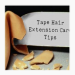 9 Tips on How to Take Care of Tape Extensions