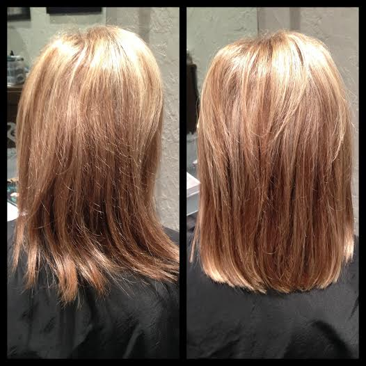 Balmain Hair Extensions - Before and After Image 1