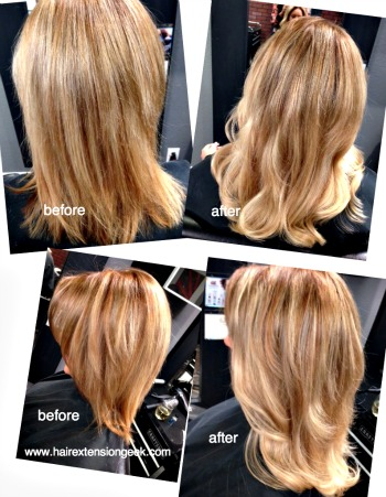 Hair Extension Before and After | SOmbre