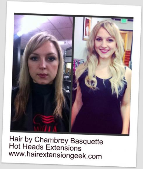 Hair Extensions Before and After | Hot Heads
