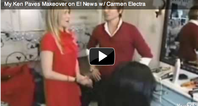 My Ken Paves Makeover on E! News w/ Carmen Electra