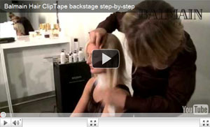 Balmain Hair Clip Tape backstage step-by-step