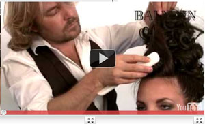 Step-by-step Updo hair trend by Balmain