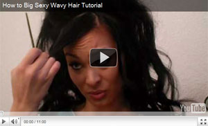 How to Big Sexy Wavy Hair Tutorial