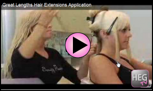 Great Lengths Hair Extensions Application
