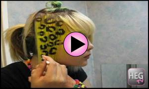 Cheetah Print Hair | Scene Hair