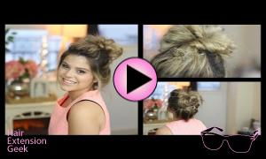 Messy Bun Using Hair Extensions